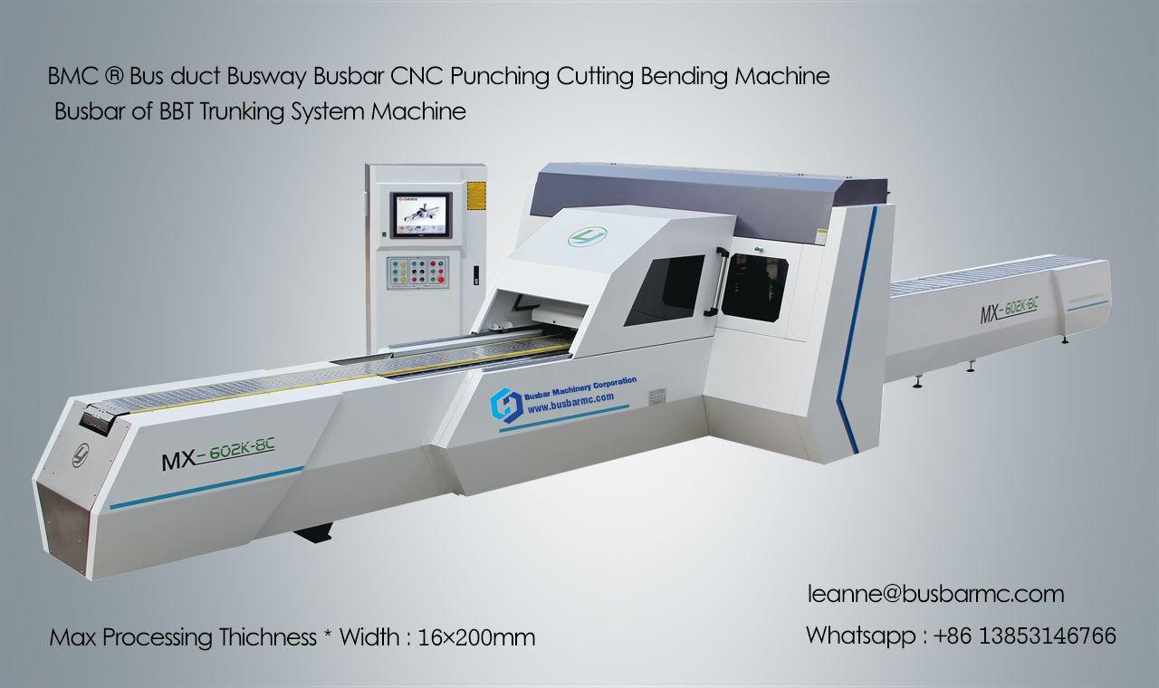 MX602K-8C CNC Busbar Machine Copper punching cutting machine